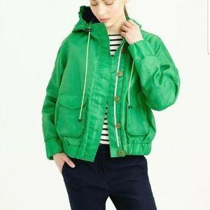 J.Crew hooded green utility jacket